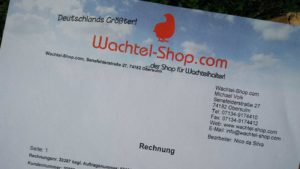 Rechnung von Wachtel-Shop.com